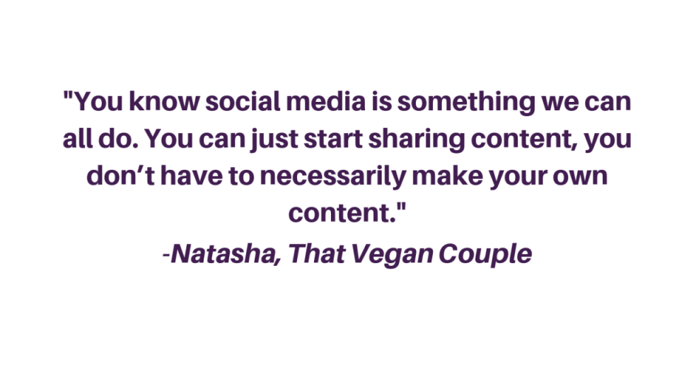 You know social media is something we can all do. You can just start sharing content, you don't have to necessarily make your own content.