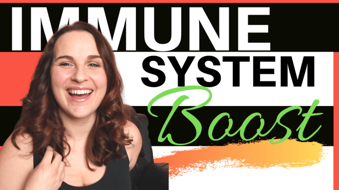 """Picture of Megan Kerry. Text reads """"Immune System Boost"""""""