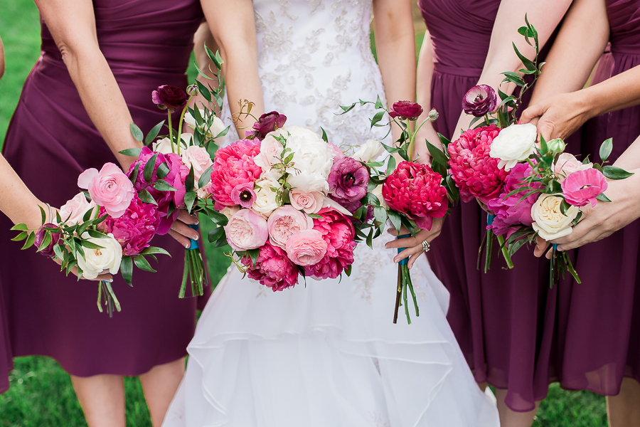 Flowers! I'm in love with these beautiful peony bouquets from Poppy's in Laramie. The colors in these bouquets matched the bridesmaids dresses perfectly. Love!