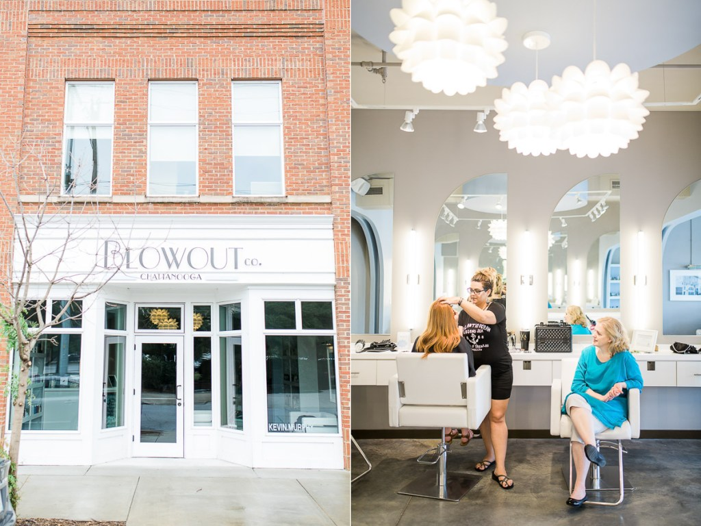 The day started at The Blowout, in Downtown Chattanooga, TN where Mindy & Latosha worked their magic on Mary's hair & makeup.