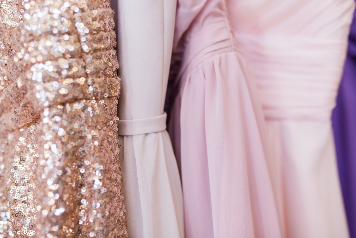 THESE COLORS. Gold sequins and pink organza... drool! I might love their bridesmaid and prom dress selections just as much as the wedding gowns!