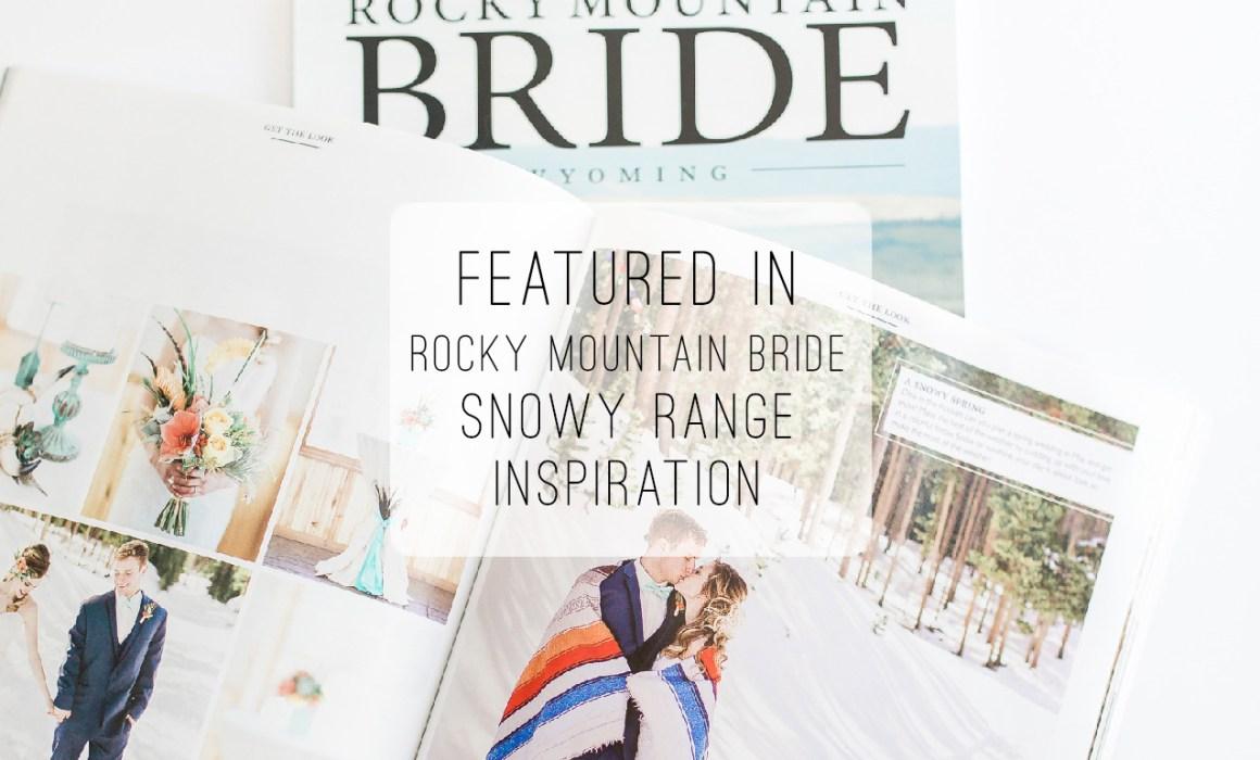 Snowy Range Ski Area wedding inspirational wedding shoot featured on Rocky Mountain Bride.