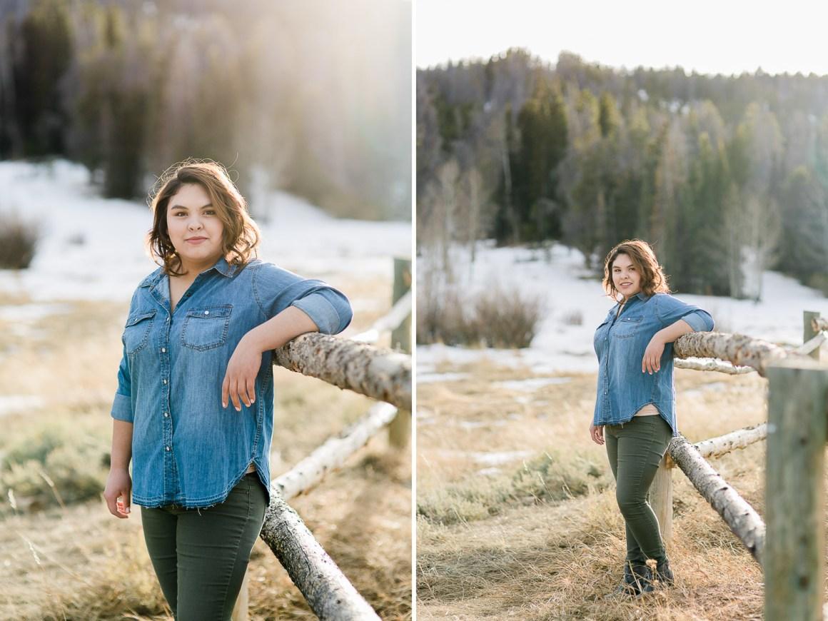 Torrington high school senior portrait by Laramie based photographer Megan Lee Photography