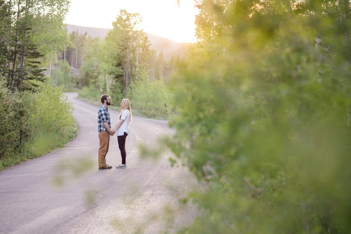 Engagement photography in the mountains of Wyoming by Laramie based photographer. Summer in Wyoming Mountains