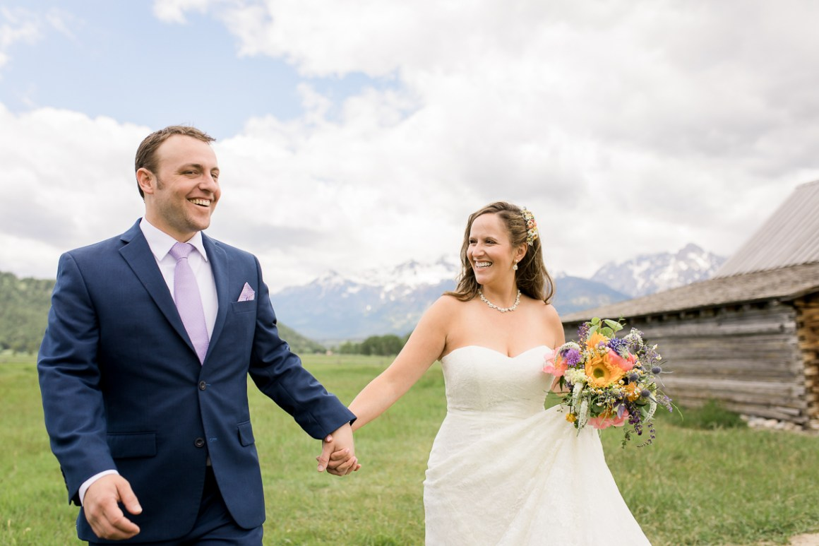 Noel and Dirk's Jackson Hole wedding with ceremony at the Wedding Tree in Bridger Teton National Forest and reception at the Bentwood Inn in Wilson, Wyoming. Photography by wyoming wedding photographer, Megan Lee Photography.