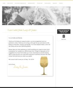 Black Tie Wedding -Wedding Website