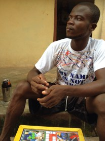 Hanging out at Poppo's place in Kumasi (his name is not Obroni)