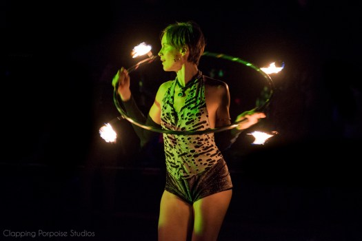Fire Hoop at Once Upon a Festival. Photo by Zac Krohn / Clapping Porpoise Studios.
