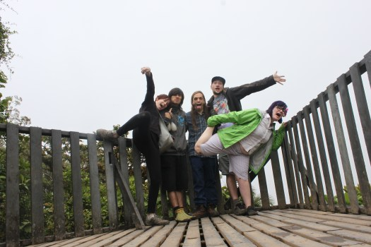 Goofy Group Photo in Monteverde Cloud Forest, Costa Rica 2014