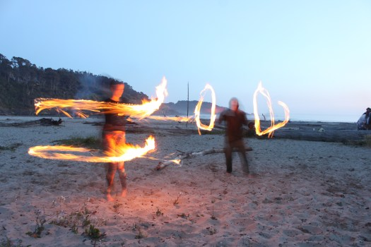 Fire Spinning on Beltane, May 1 2014