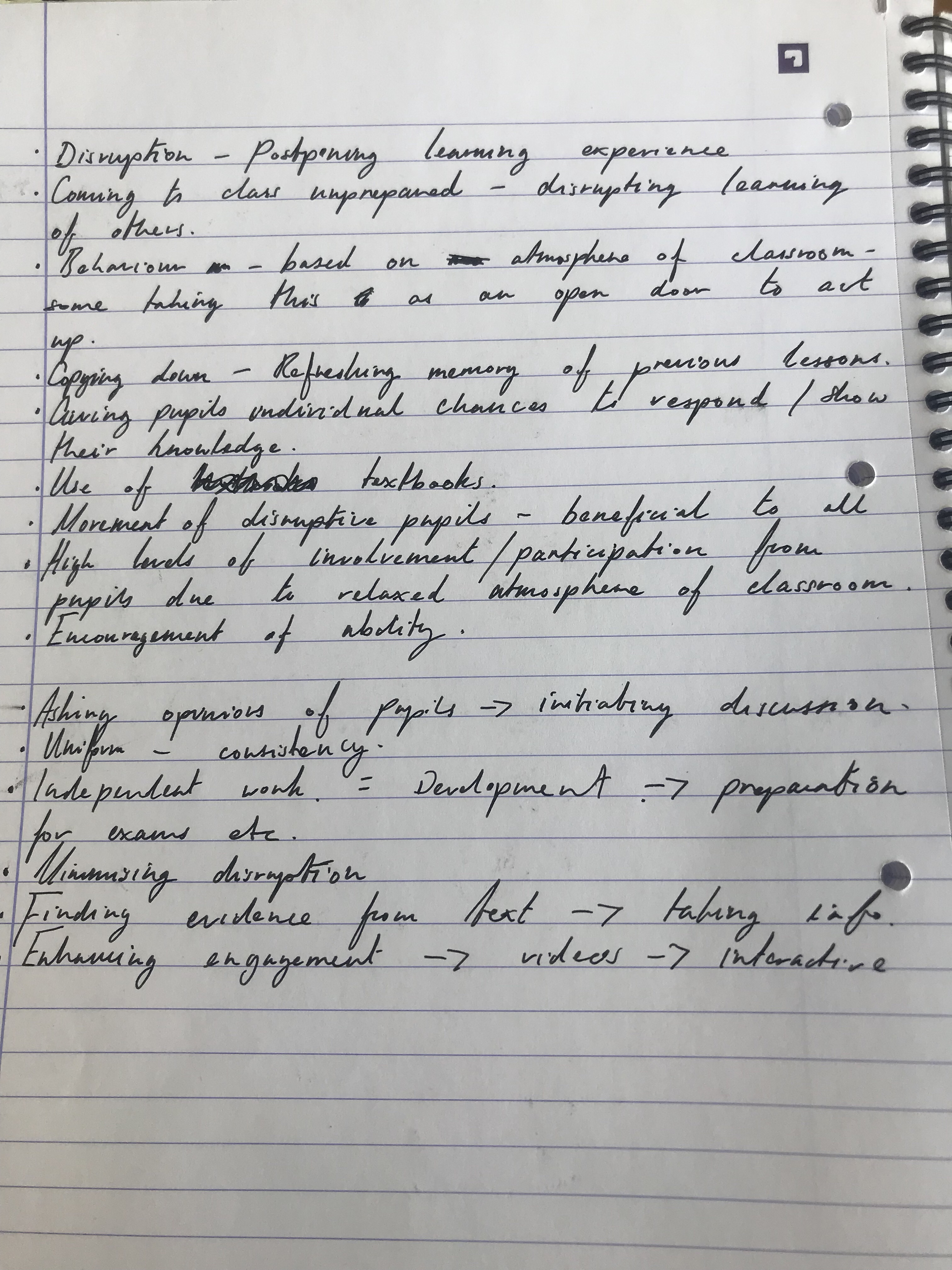 Section 2 Observation Notes Megan S Internship Portfolio