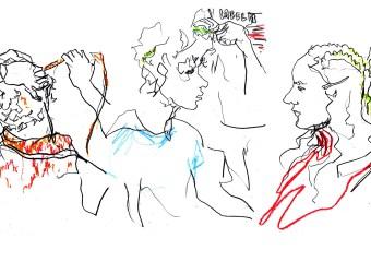 Recent work   Evening Standard   Fashion illustrator Megan St Clair live illustrates London Fashion Week AW19