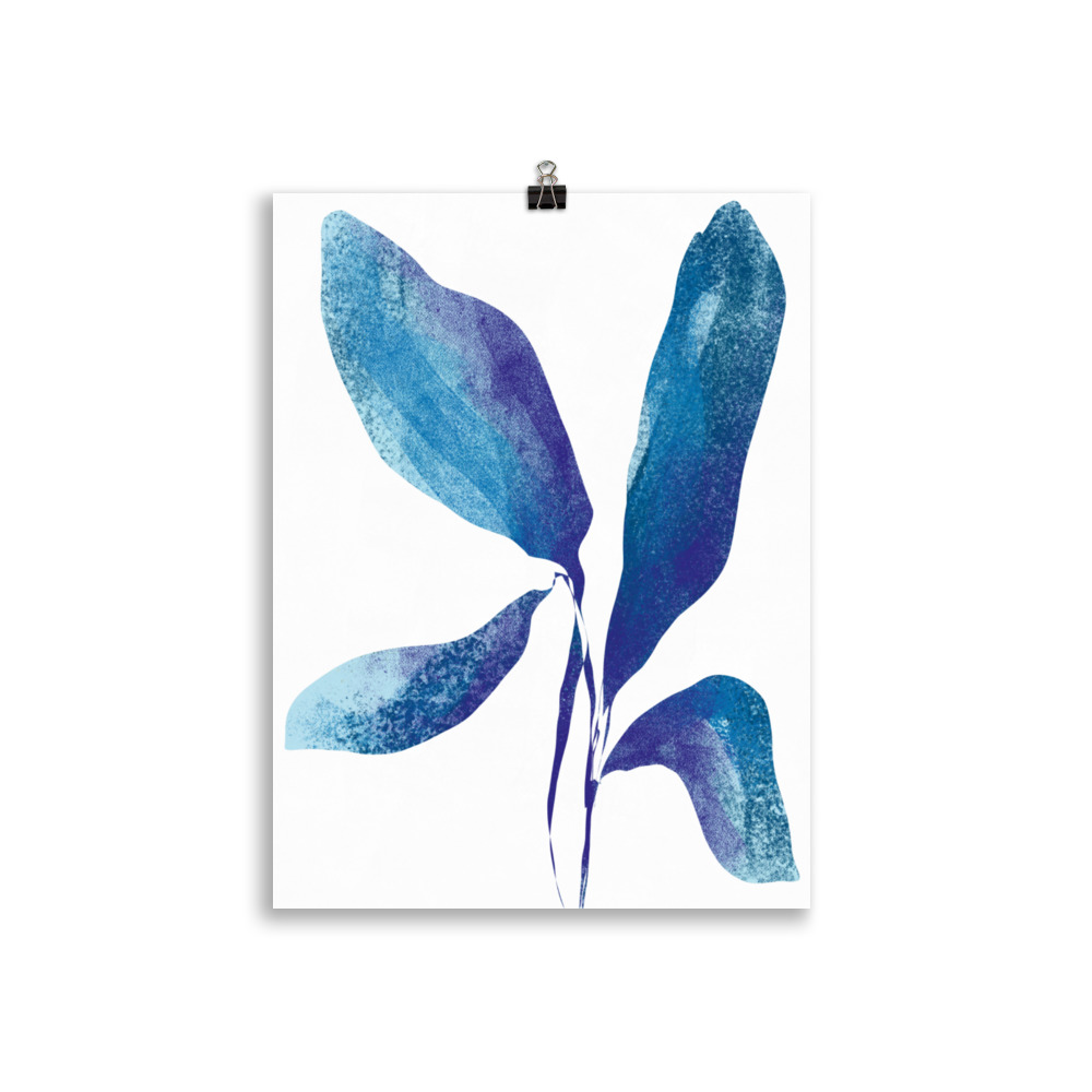 Plant minimal artwork from Megan St Clair on a white background perfect art for interior