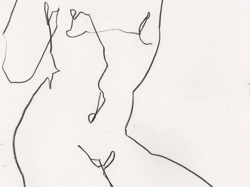 Nude drawing of woman in minimal line art by Megan St Clair 10