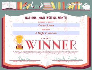 Annwn - NaNoWriMo Winnaarr!