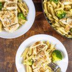 Easy Chicken Brocoli Alfredo pasta