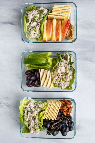 Tuna Salad in meal prep containers