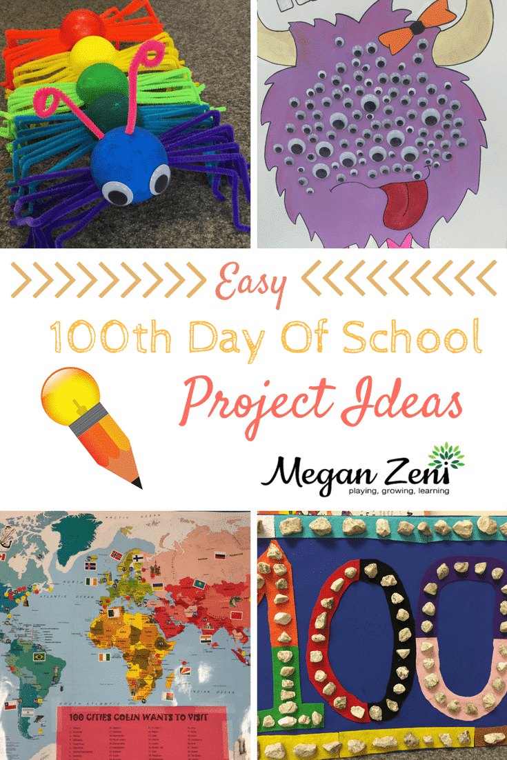 easy 100th day of school project ideas
