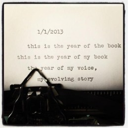 This is the year of the book. This is the year of my book, the year of my voice, my evolving story. {Megaphone Society}