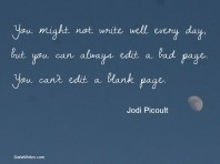 You can't edit a blank page #motivation #inspiration #amwriting {Megaphone Society}