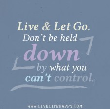 Don't be held down by what you can't control. {Megaphone Society} #amwriting #inspiration