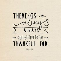 There is always something to be thankful for {Megaphone Society} #amwriting #inspiration