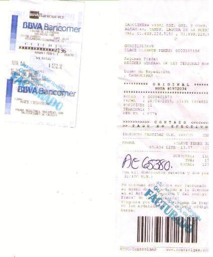 NOTAS DE GASOLINERA