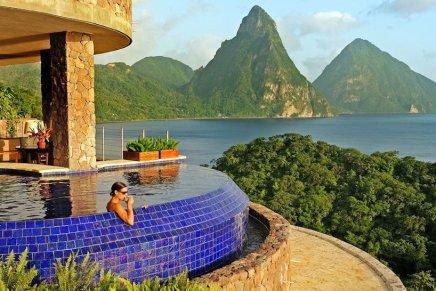 """Visite el mega espectacular resort 5 estrellas """"Jade Mountain"""" en Santa Lucía"""