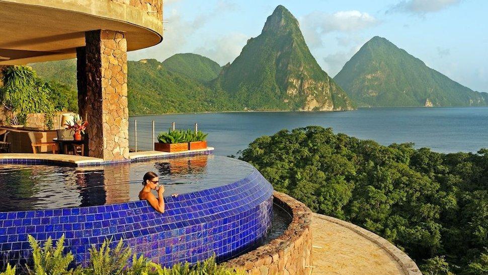 El Espectacular Resort 5 Estrellas Jade Mountain En Santa Lucía