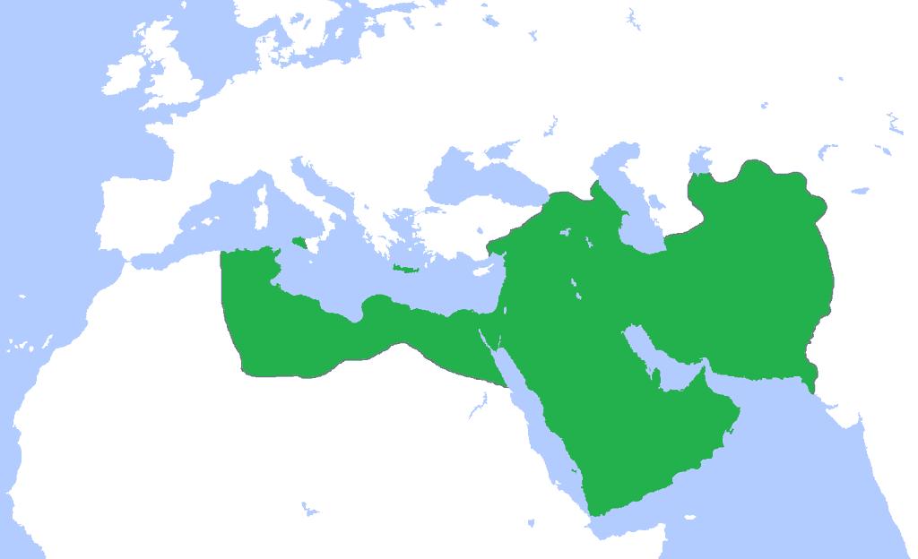 Mapa del Califato Abasí