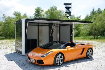 El CUBOX es un moderno y elegante quiosco de energía solar