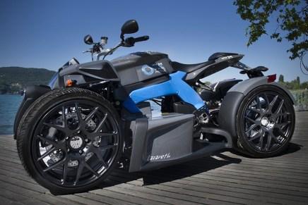 Lazareth E-Wazuma Quad: Este poderoso cuadriciclo viene con dos motores eléctricos que entregan 60KW y 490 Nm de torque