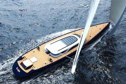 BLUE SAPPHIRE: Hermoso velero concepto de 52M por Ferrari & Franchi