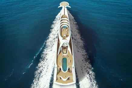 Este concepto futurista de súper yate de HBD Studios sería uno de los barcos privados MÁS LARGOS DEL MUNDO