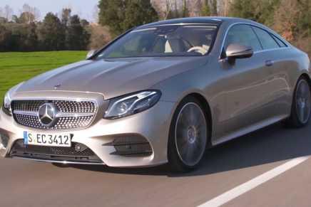 Mercedes-Benz presenta su más grande y más lujoso E-Class 300 Coupé 2018