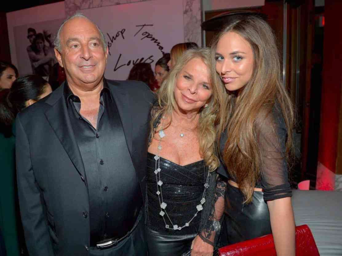 Tina Green y su esposo Philip Green