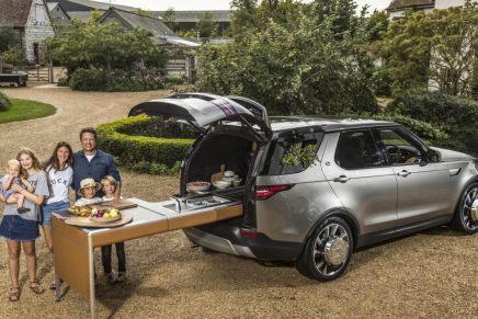"""¡Wow! Land Rover pone una cocina entera en la nueva SUV """"Discovery"""" de Jamie Oliver"""