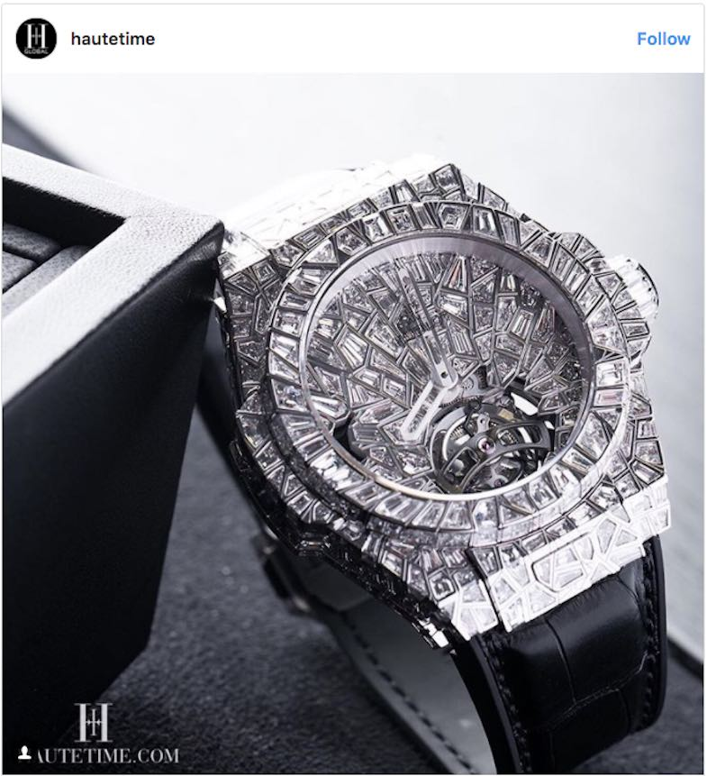 "Hublot Big Bang ""10 Years"" Haute Joaillerie"