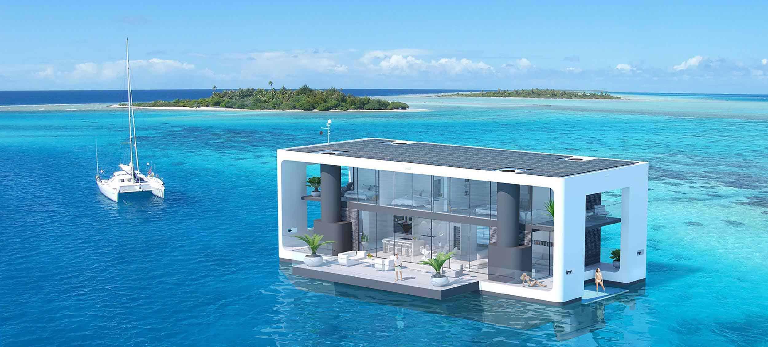 Arkup, estas lujosas residencias flotantes en Miami pueden resistir cualquier huracán
