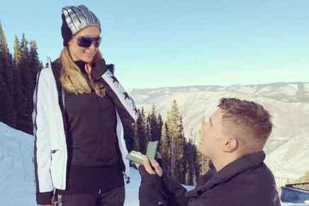 Chequea el anillo de compromiso — valorado en $2 MILLONES — que le dio Chris Zylka a Paris Hilton… ¡Estaba súper temblando cuando lo vi!