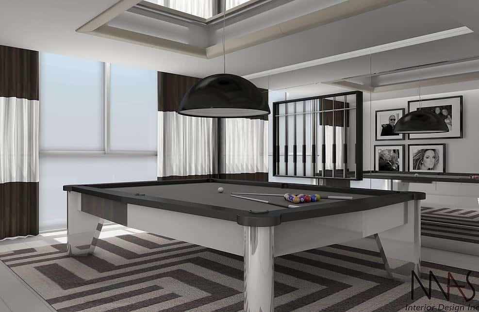 Colección de modernas & lujosas mesas de billar por Mitchell