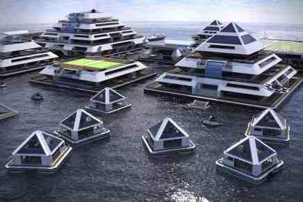 Wayaland: La mega increíble comunidad de pirámides flotantes del futuro