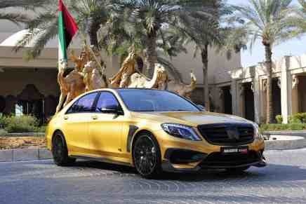 BRABUS Mercedes S65 AMG Rocket 900 Desert Gold Edition, brillante superdeportivo sedán para un jeque