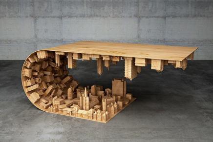 """Está increíble mesa de café te pondrá el mundo de cabeza – Inspirada en la película """"Inception"""""""