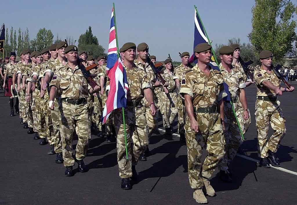 Soldados del Reino Unido