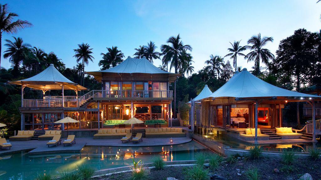 El resort Soneva Kiri está ubicado en una isla privada de Tailandia