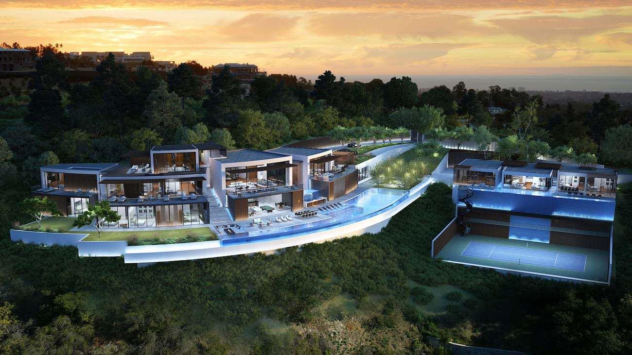 Esta moderna mega mansión de 25.000 pies cuadrados en Los Ángeles, California está a la venta por $27,7 millones