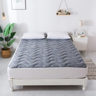 couvre matelas bambou charbon