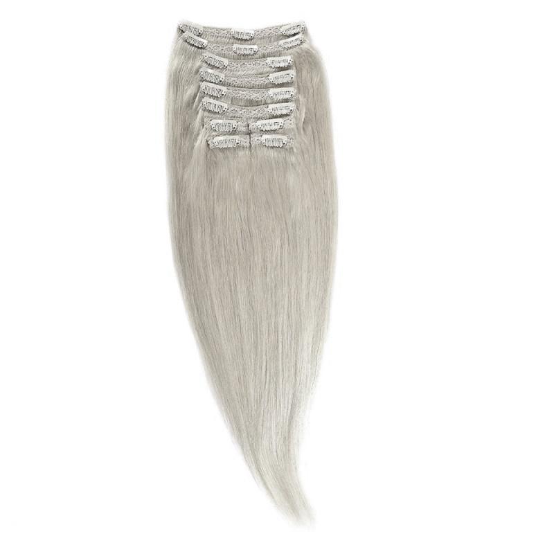 Clip-On Par Natural Volum 40cm 140gr Blond Ultra Cenusiu #lightsilver
