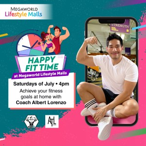 Home workout at Megaworld Lifestyle Malls
